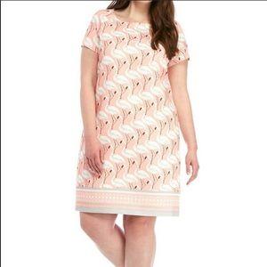 Julian Taylor pink flamingo print dress